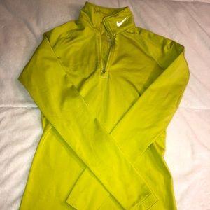 Nike size S neon green long sleeve top